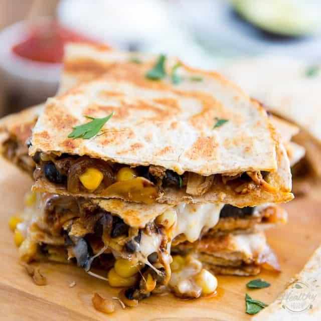Are Chicken Quesadillas Healthy  Healthier Chicken Quesadillas • The Healthy Foo