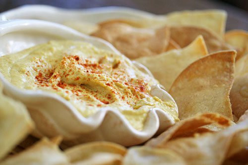 Are Corn Tortillas Healthy  Smoky Hummus with Baked Tortilla Chips • Steamy Kitchen