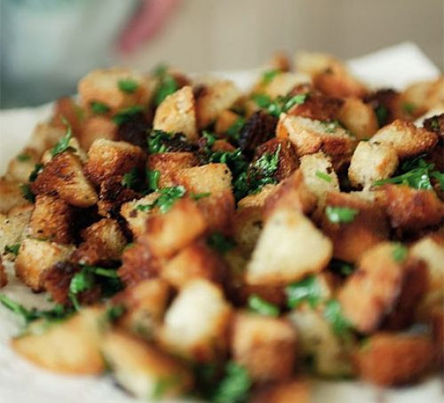 Are Croutons Healthy  Crunchy parsley croutons recipe