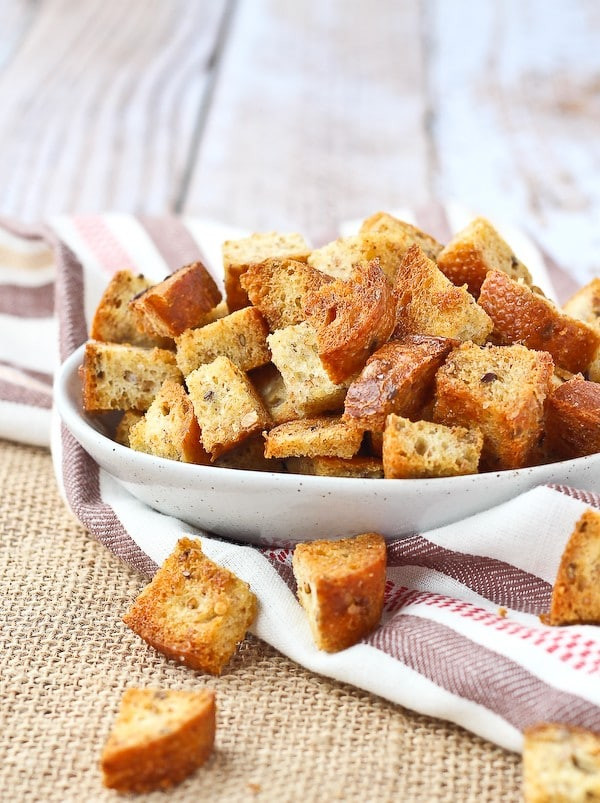 Are Croutons Healthy  Homemade Croutons 4 ingre nts baked VIDEO