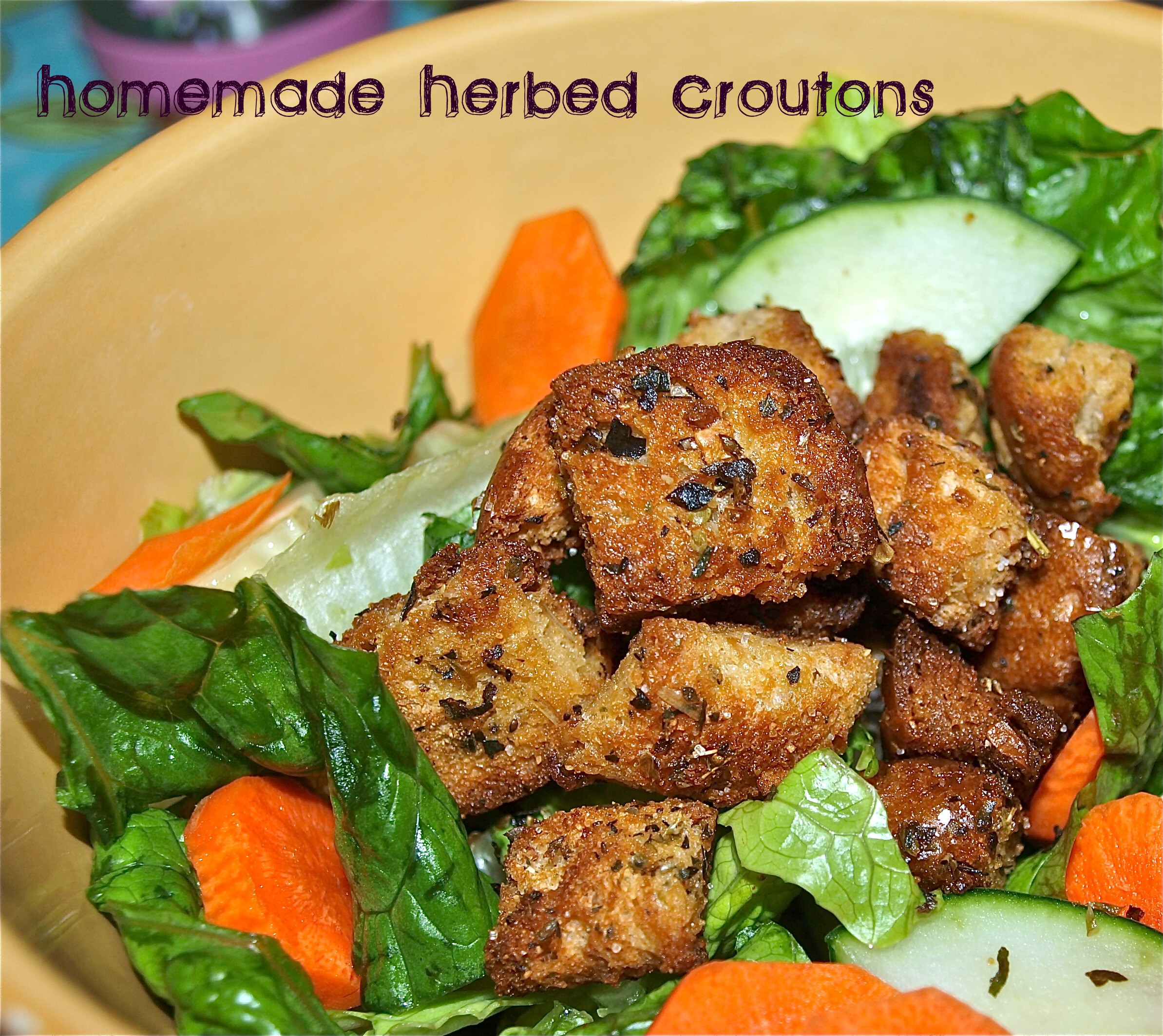 Are Croutons Healthy  Homemade Herbed Croutons Happy Healthy Mama