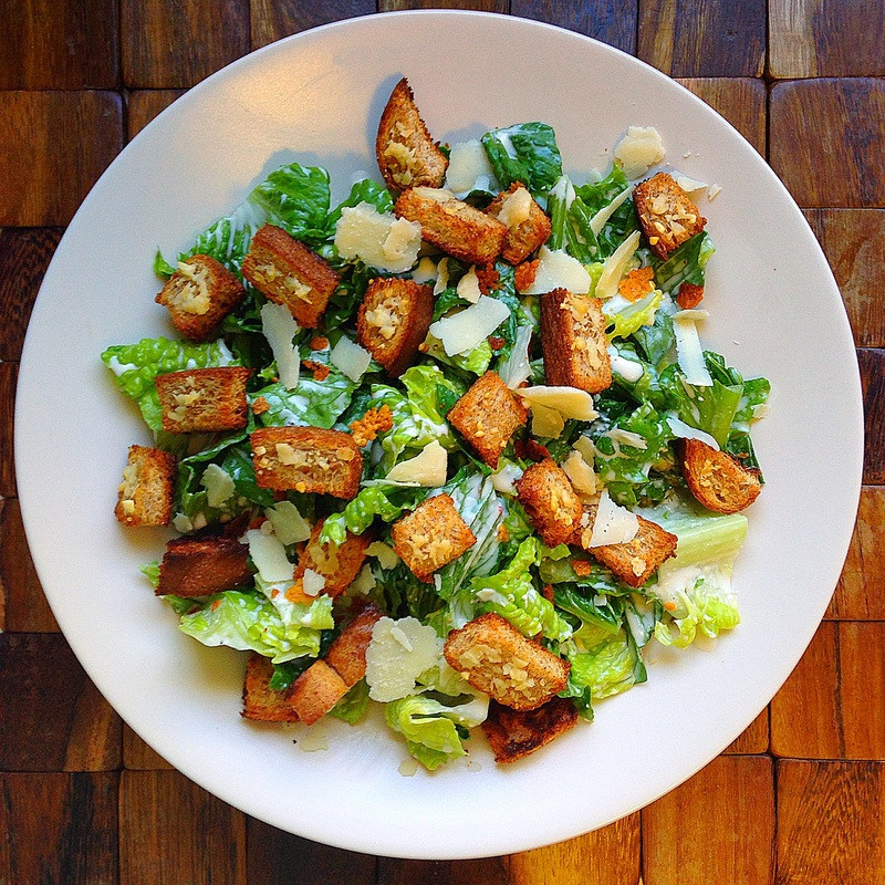 Are Croutons Healthy  Healthy Caesar Salad with Whole Wheat Croutons be the