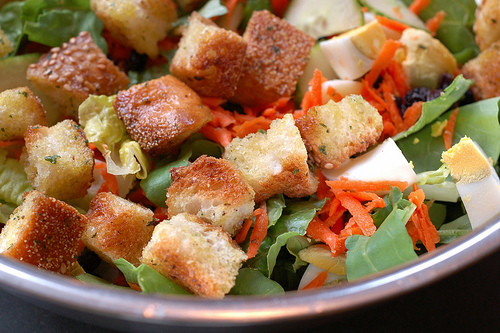 Are Croutons Healthy  Garlic & Herb Crouton Recipe