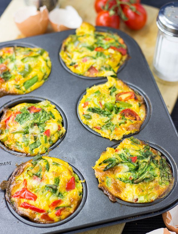 Are Eggs A Healthy Breakfast  healthy breakfast egg muffins with spinach