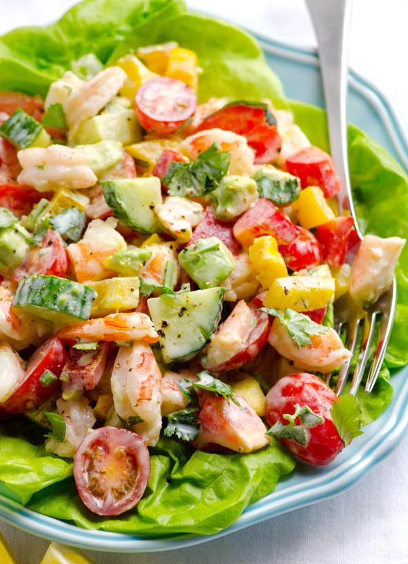 Are Fast Food Salads Healthy  Vegan Shrimp Salad & Yogurt Sauce Dressing – Best Fast