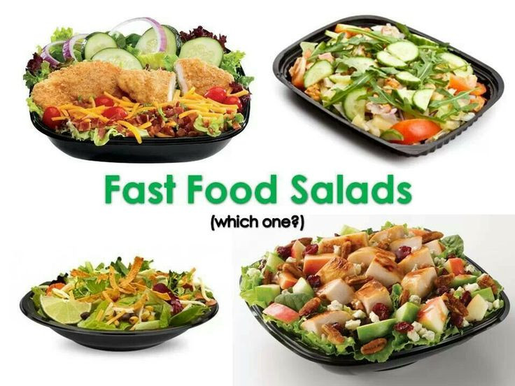 Are Fast Food Salads Healthy  Fast Food Salads Healthy Restaurant Foods