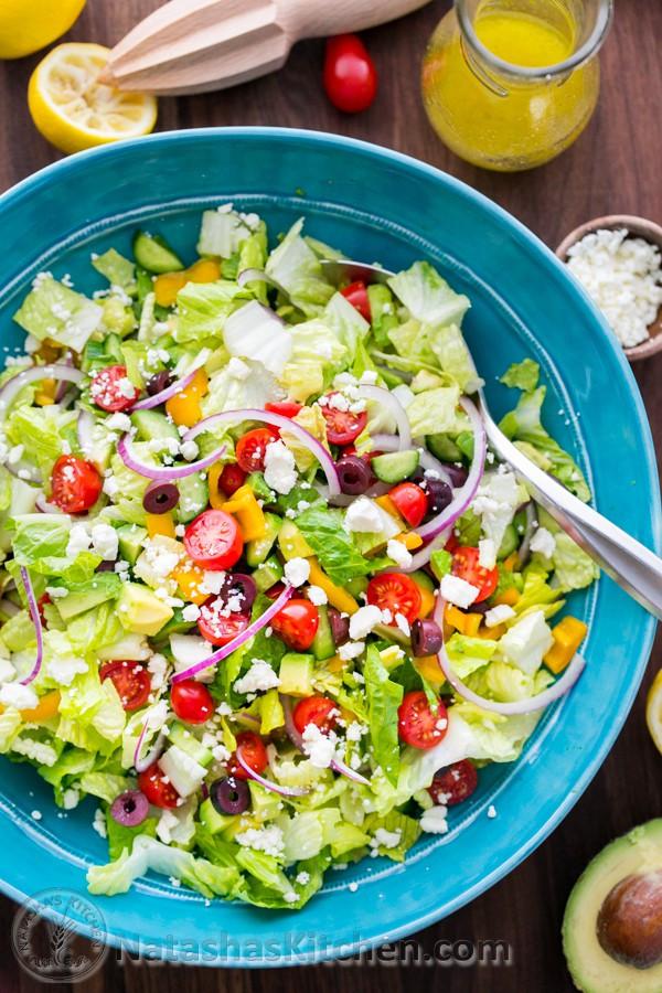 Are Greek Salads Healthy  Greek Salad with Zesty Lemon Dressing