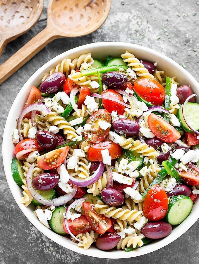 Are Greek Salads Healthy  Easy Greek Pasta Salad As Easy As Apple Pie