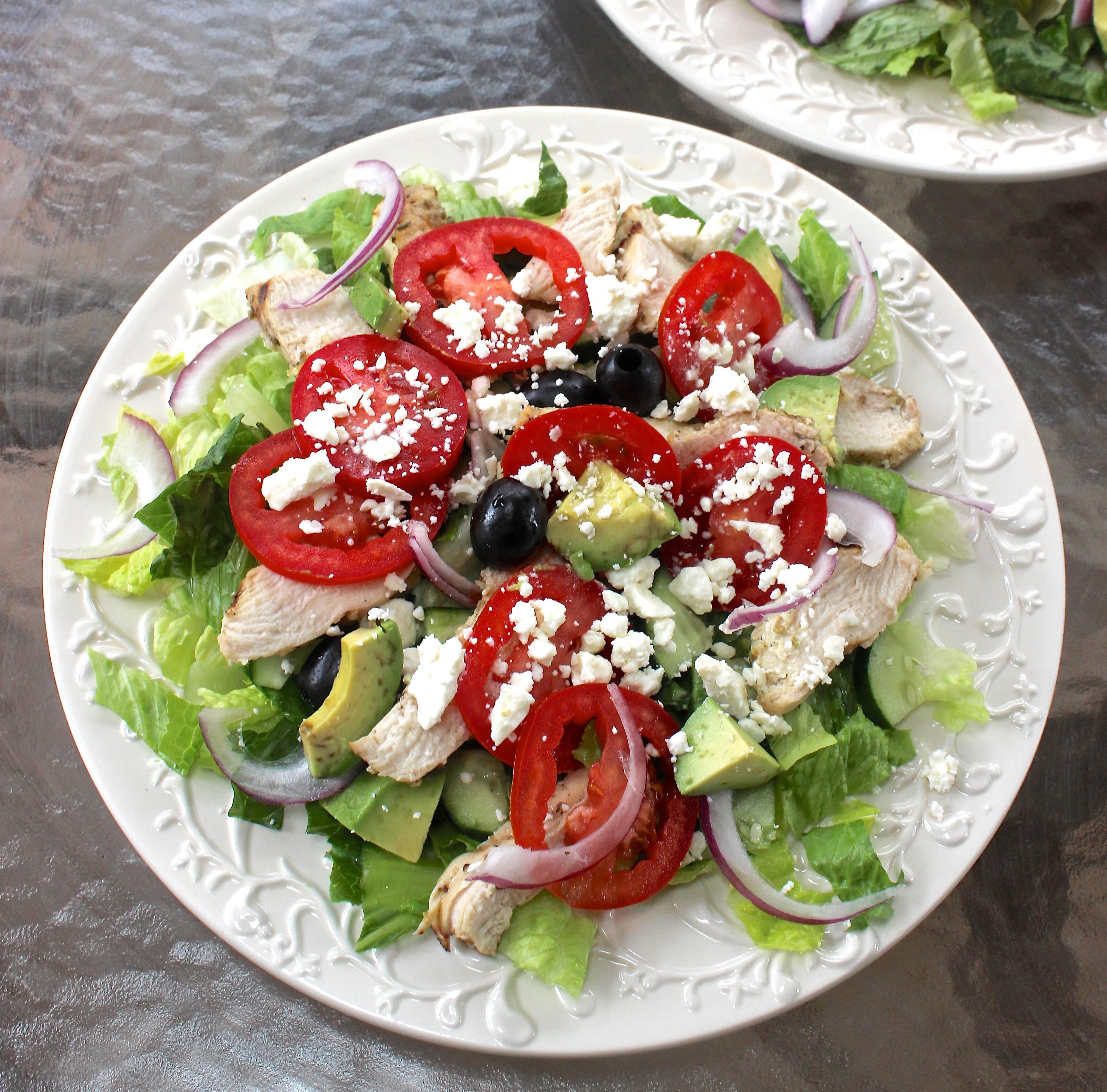 Are Greek Salads Healthy  Greek Salad with Greek Yogurt Dressing Healthy Liv