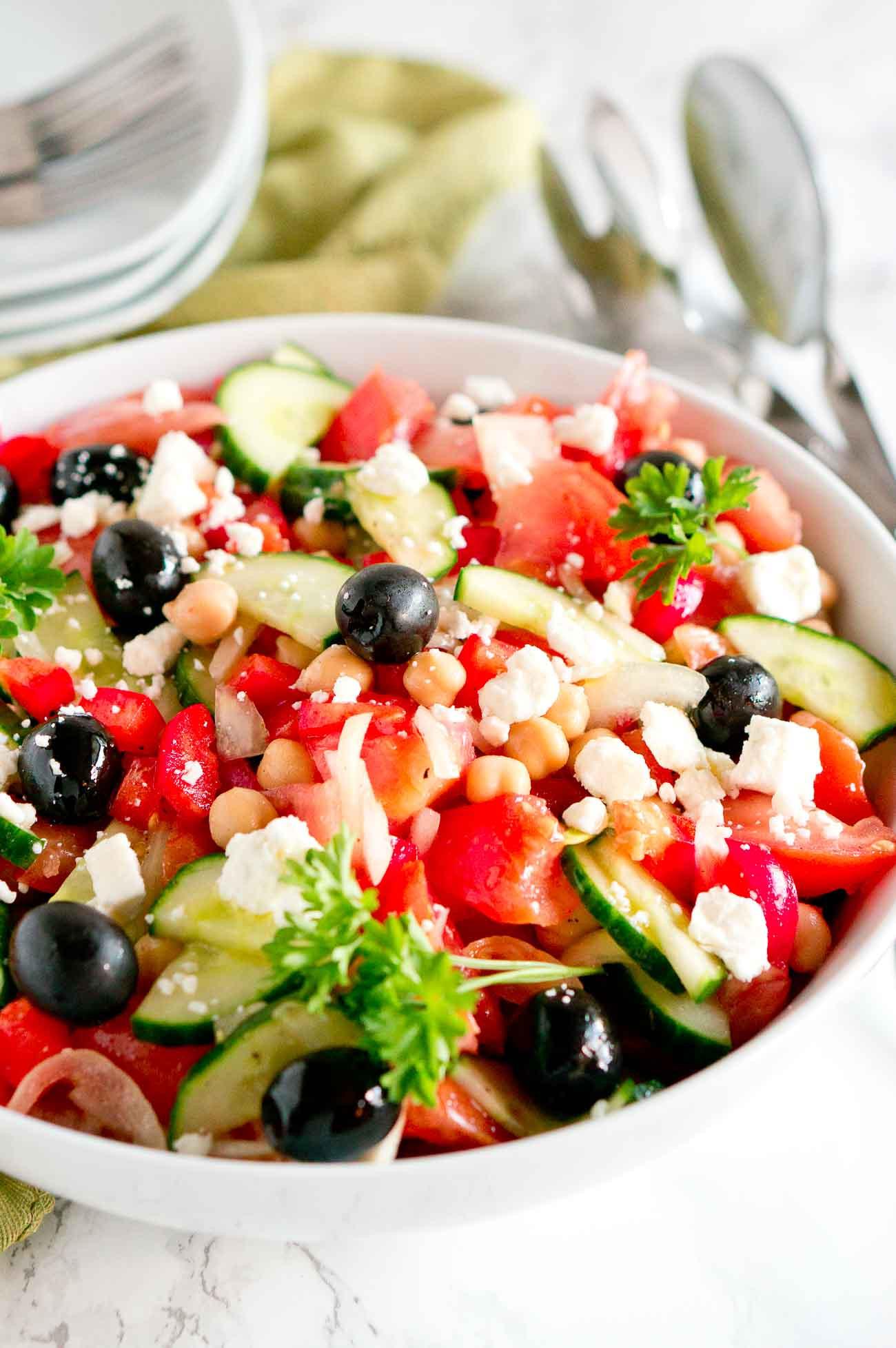 Are Greek Salads Healthy  Best Greek Salad Easy Mediterranean Salad