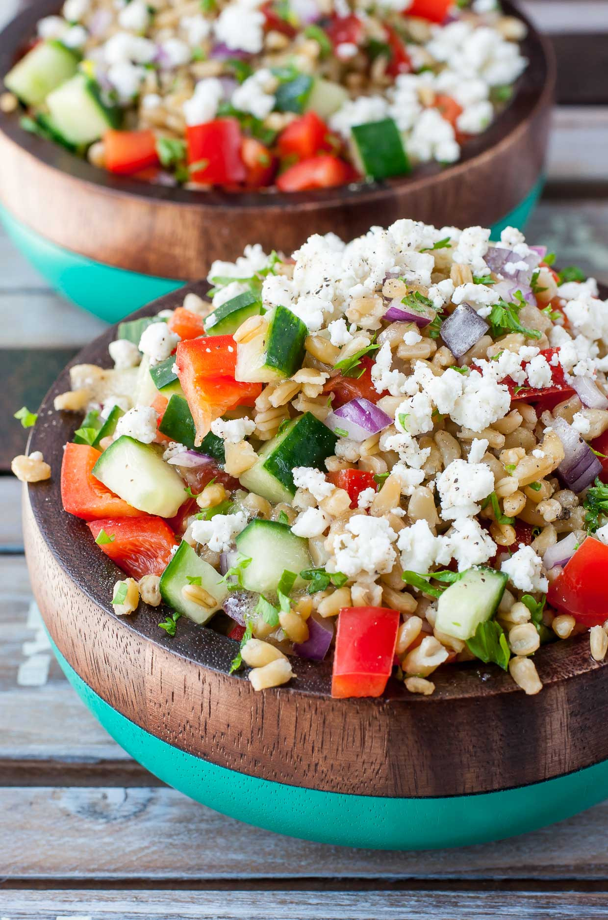 Are Greek Salads Healthy  Healthy Greek Freekeh Salad Peas And Crayons