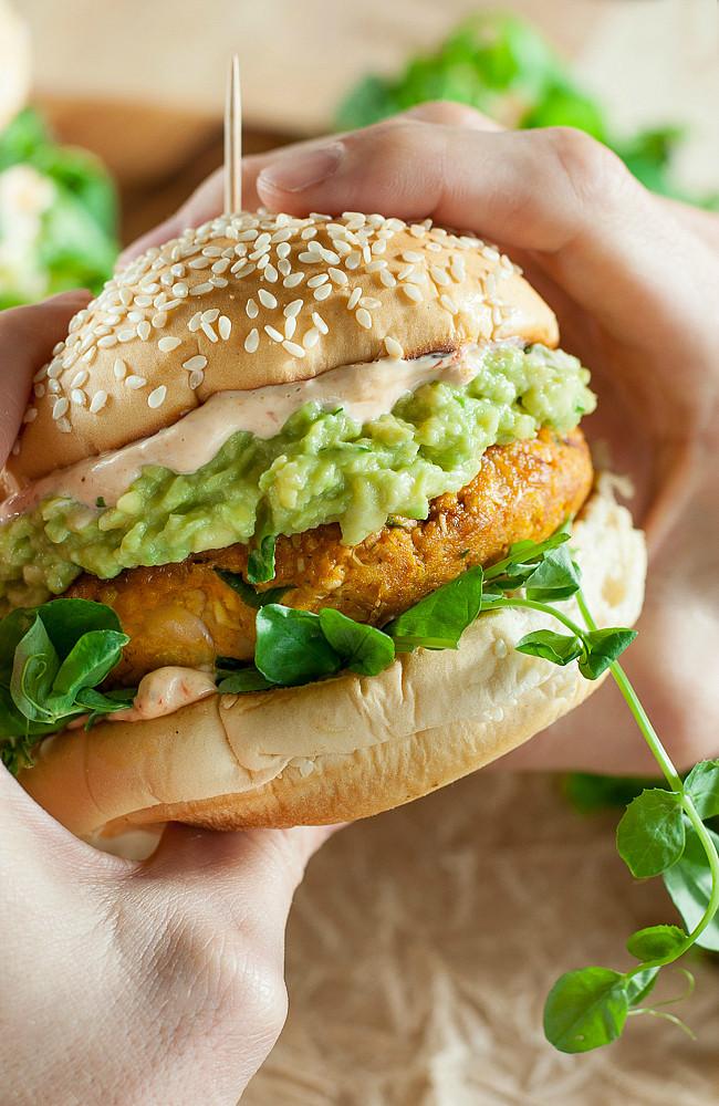 Are Hamburgers Healthy  Chipotle Pumpkin Veggie Burgers