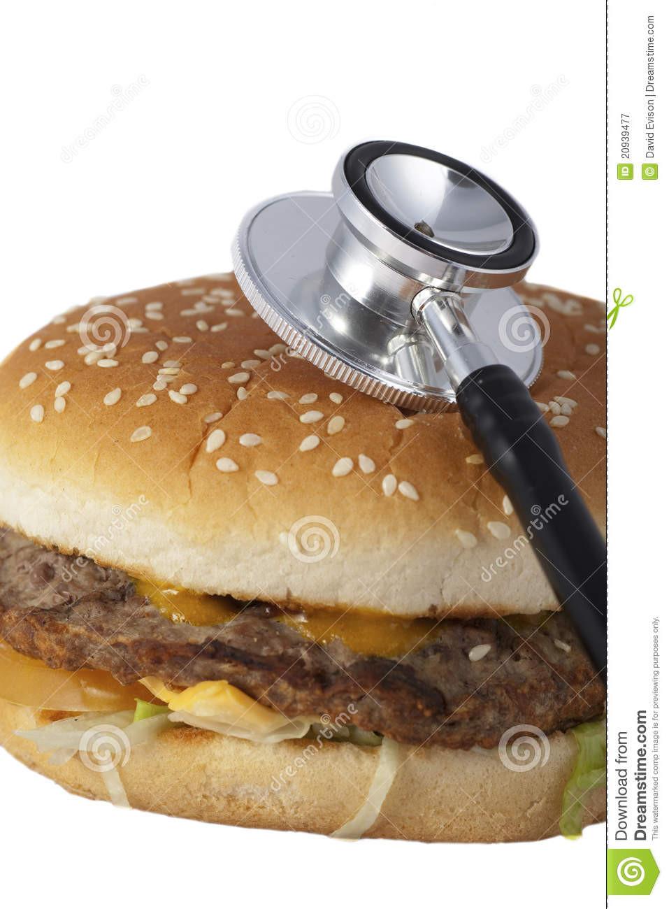 Are Hamburgers Unhealthy  Unhealthy Fast Food Burger Stock Image Image
