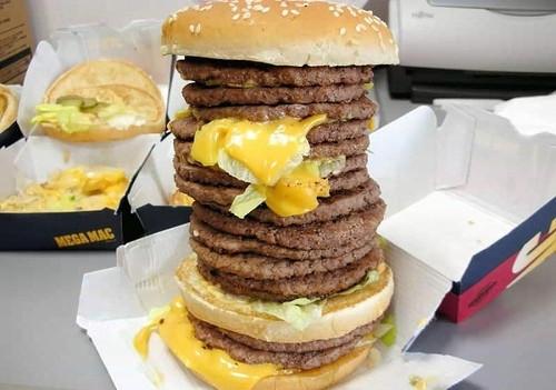 Are Hamburgers Unhealthy  cheese food hamburger meat tower unhealthy image