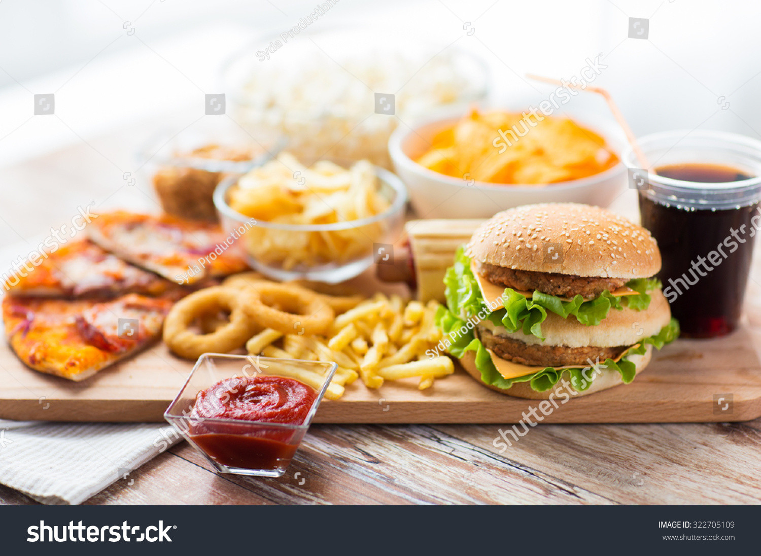 Are Hamburgers Unhealthy  Fast Food Unhealthy Eating Concept Close Stock