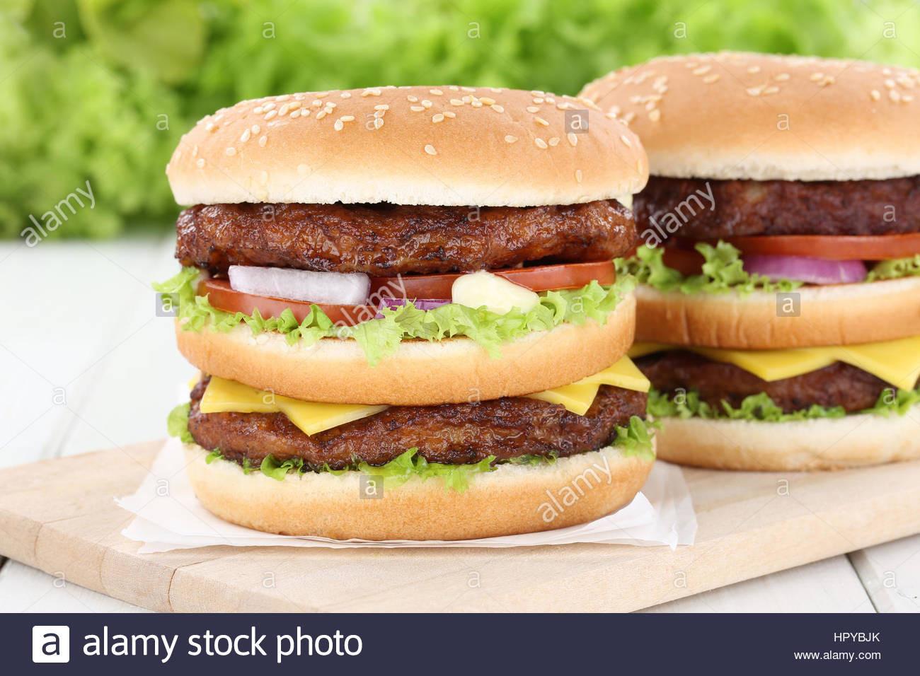 Are Hamburgers Unhealthy  Double burger hamburger tomatoes cheese unhealthy eating