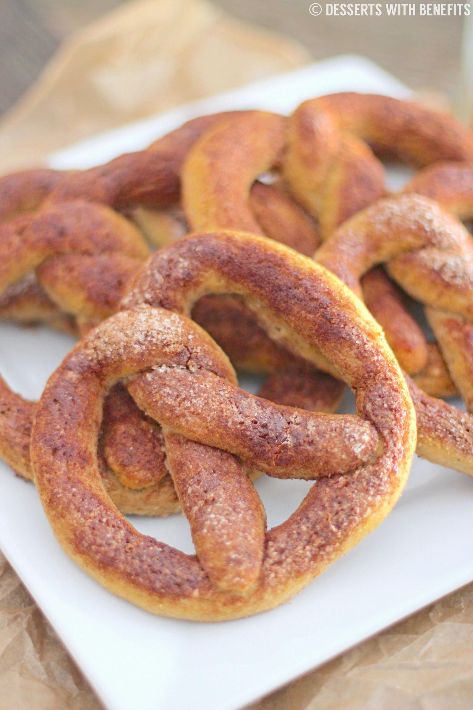 Are Hard Pretzels Healthy  Gluten Free Cinnamon Sugar Soft Pretzels