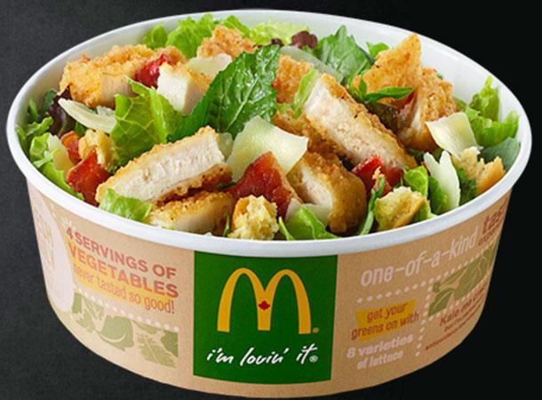 Are Mcdonald'S Salads Healthy  McDonald s Salat Grünkohl Salat hat mehr Kalorien als Big Mac