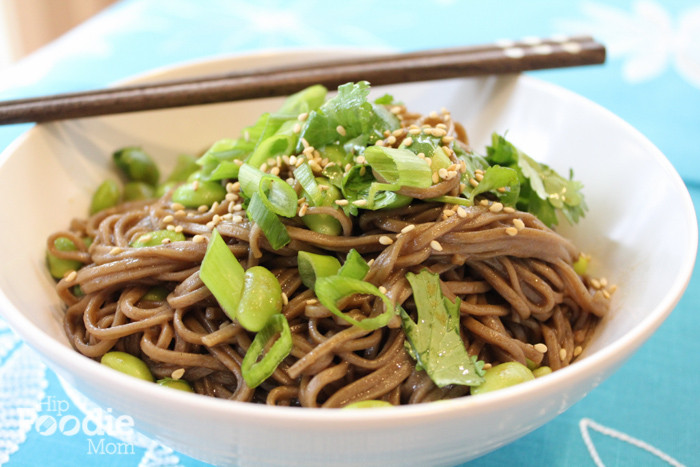 Are Noodles Healthy  Soba Noodles with Edamame and Green ions for a Healthy