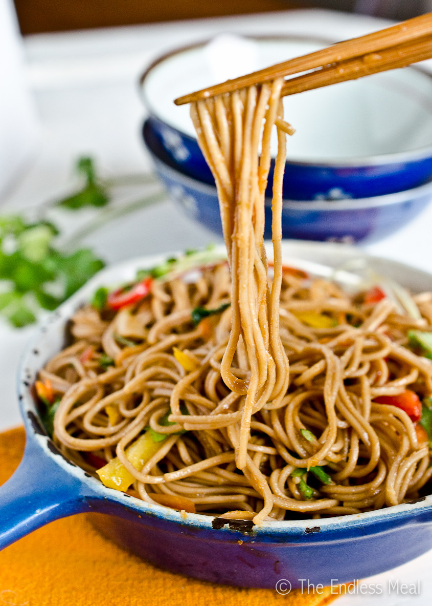 Are Noodles Healthy  Soy Ginger Noodles