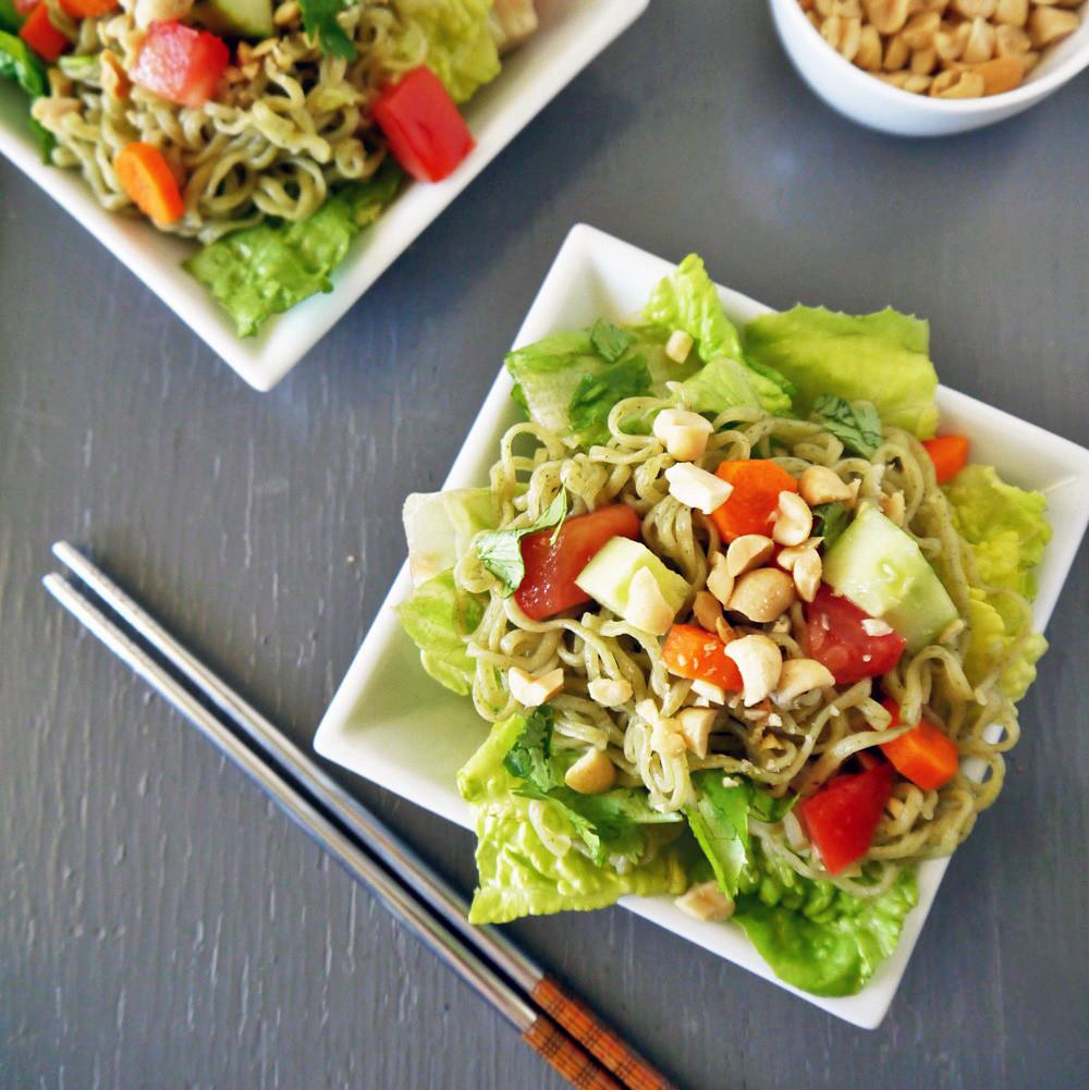Are Noodles Healthy  HEALTHY RAMEN NOODLE SALAD RECIPEVegan Chow Down