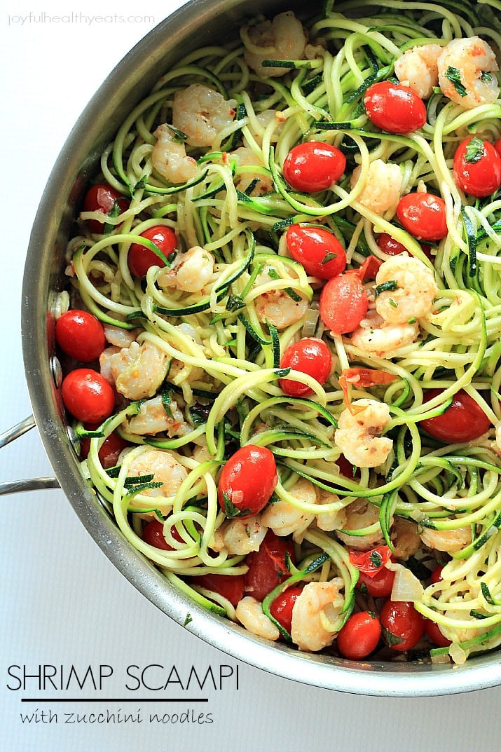Are Noodles Healthy  Shrimp Scampi with Zucchini Noodles