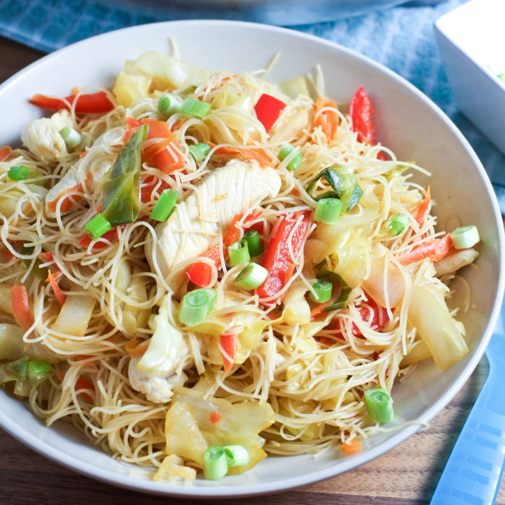 Are Noodles Healthy  Easy Pancit Noodles and Veggies