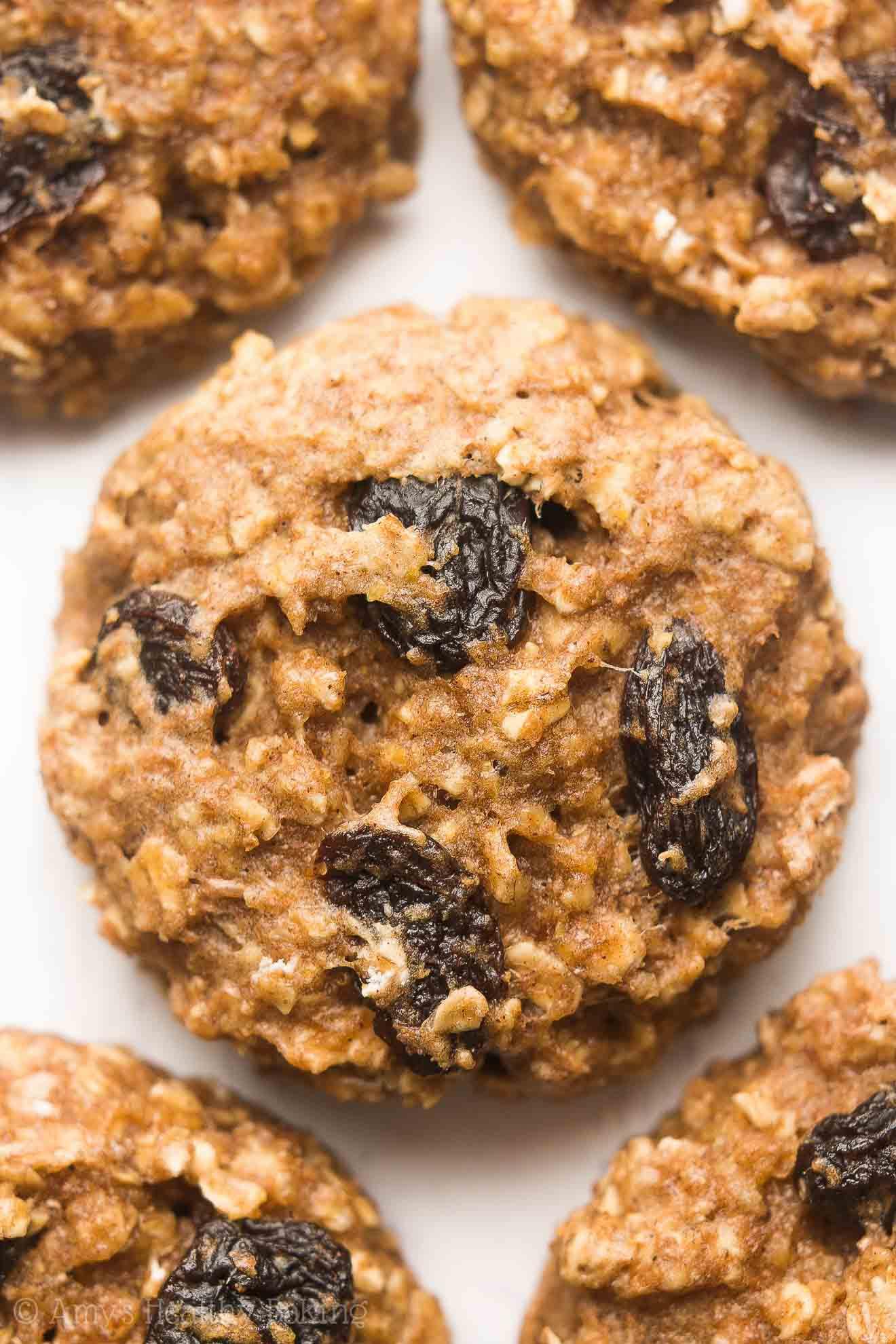 Are Oatmeal Raisin Cookies Healthy  Healthy Oatmeal Raisin Breakfast Cookies