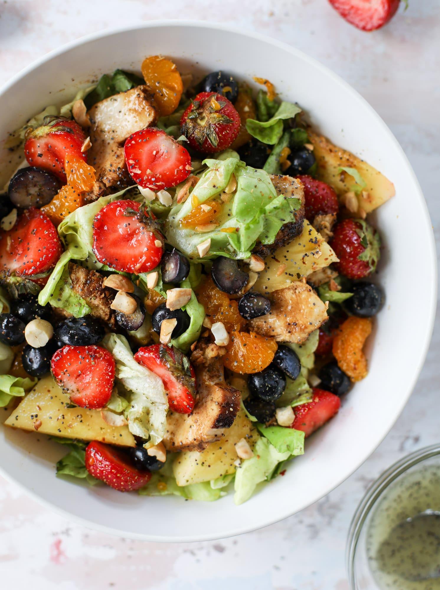 Are Panera Salads Healthy  Copycat Panera Strawberry Poppyseed Salad Grilled