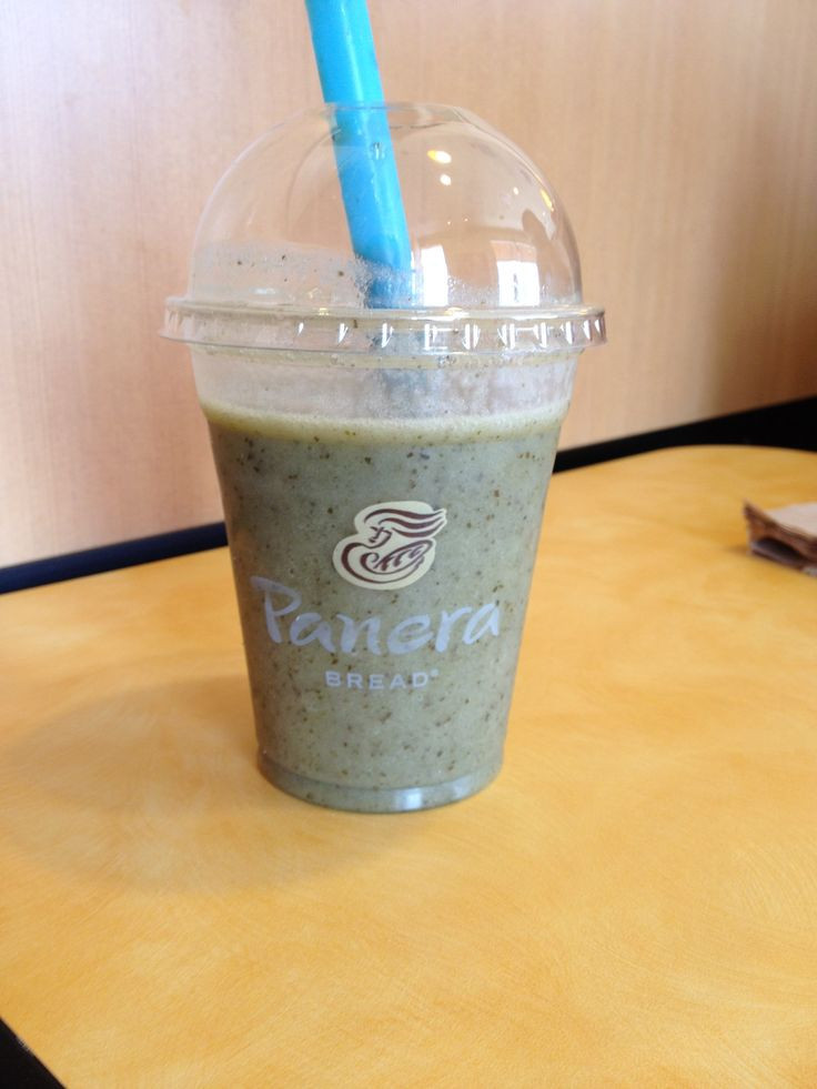 Are Panera Smoothies Healthy  B Green Power Smoothie I just tried at Panera Very yummy