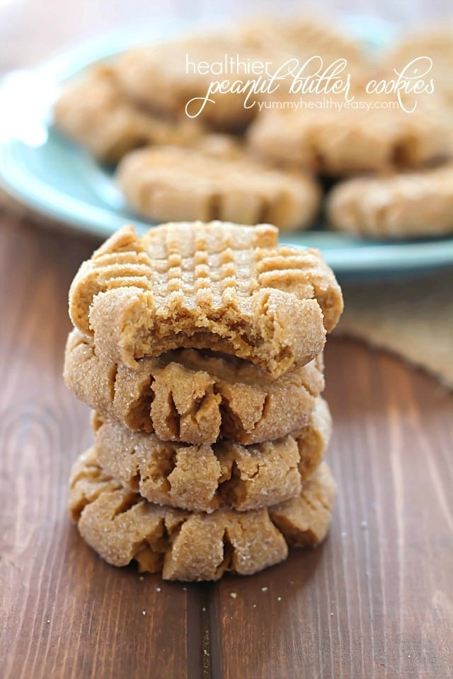 Are Peanut Butter Cookies Healthy  Healthier Easy Peanut Butter Cookies Yummy Healthy Easy