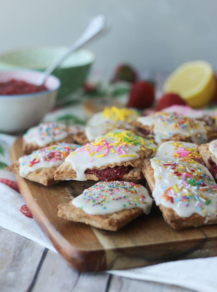 Are Pop Tarts Healthy For Breakfast  Strawberry Lemonade Vegan Pop Tarts