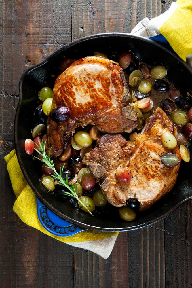 Are Pork Chops Healthy For You  Pan Roast Pork Chops with Grapes Whole 30