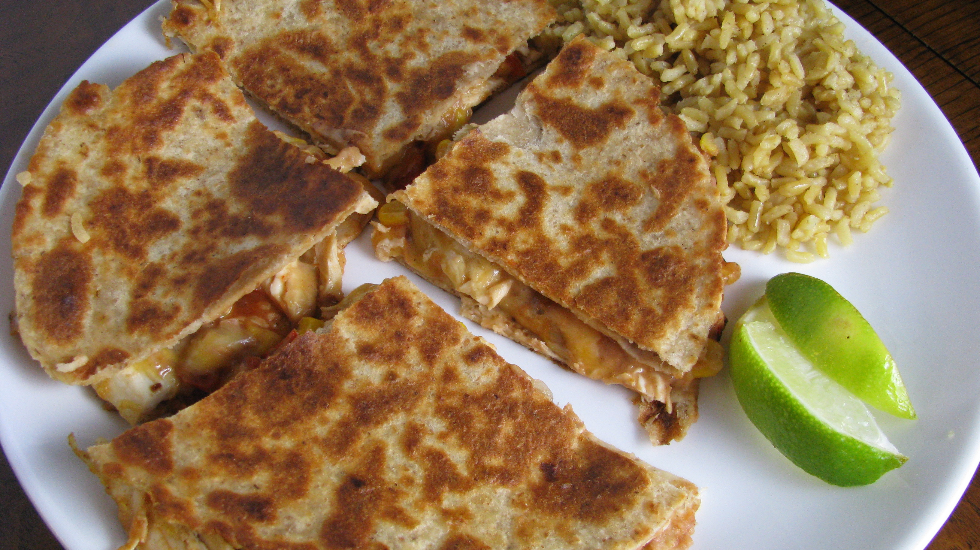 Are Quesadillas Healthy  Cheesy Chicken Quesadillas How Sweet Eats