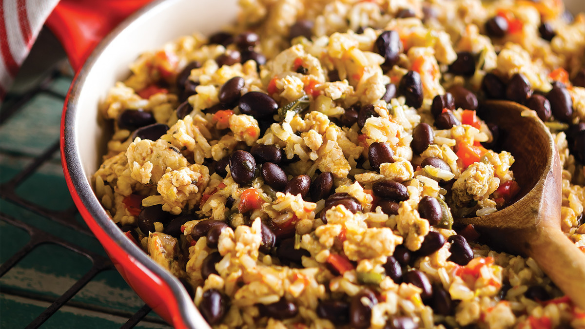 Are Rice And Beans Healthy  Rice and Beans with Turkey Recipe