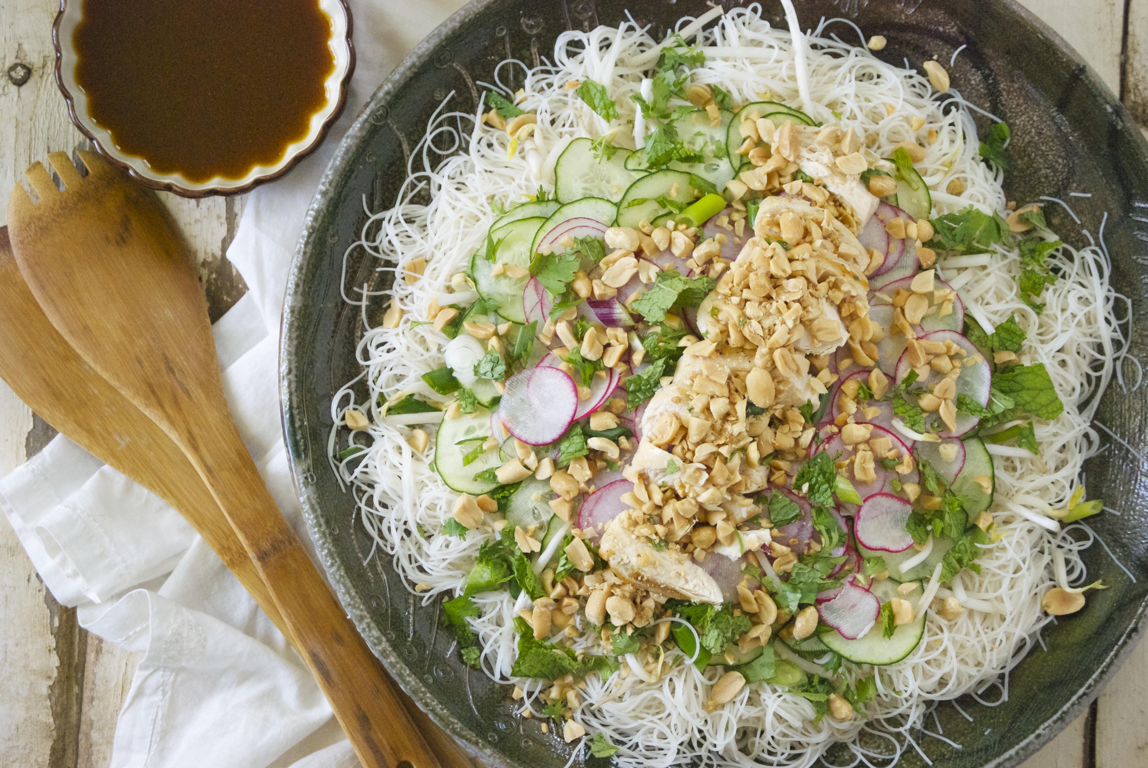 Are Rice Noodles Healthy  Healthy Brown Rice Noodle Salad