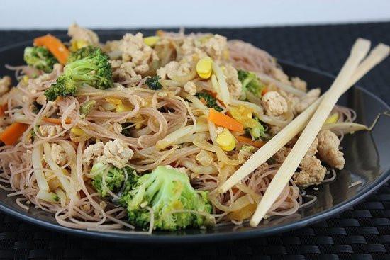 Are Rice Noodles Healthy  Healthy Stir Fry Thai Noodle Recipe