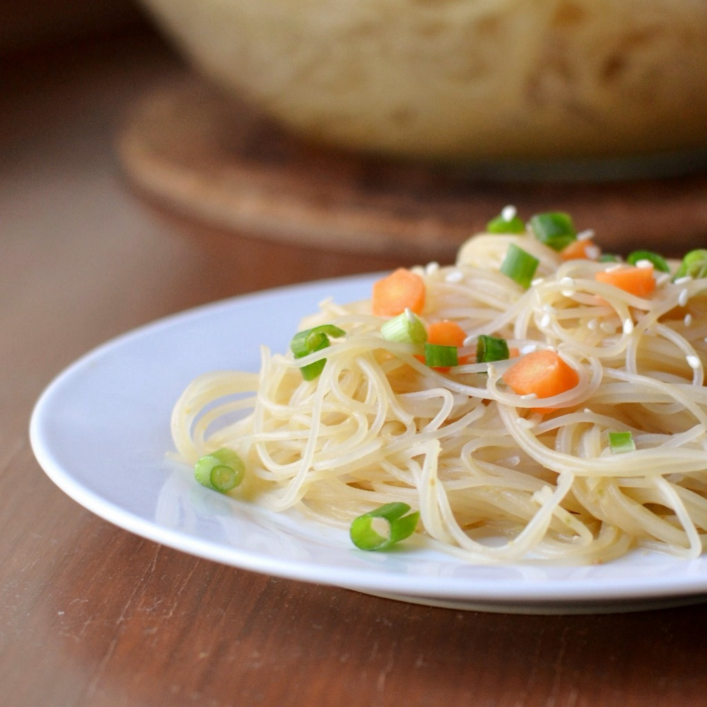 Are Rice Noodles Healthy  Rice Noodles with Peanut Sauce Real Food Real Deals