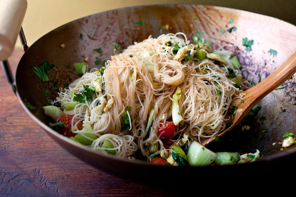 Are Rice Noodles Healthy  Stir Fried Rice Stick Noodles With Bok Choy and Cherry