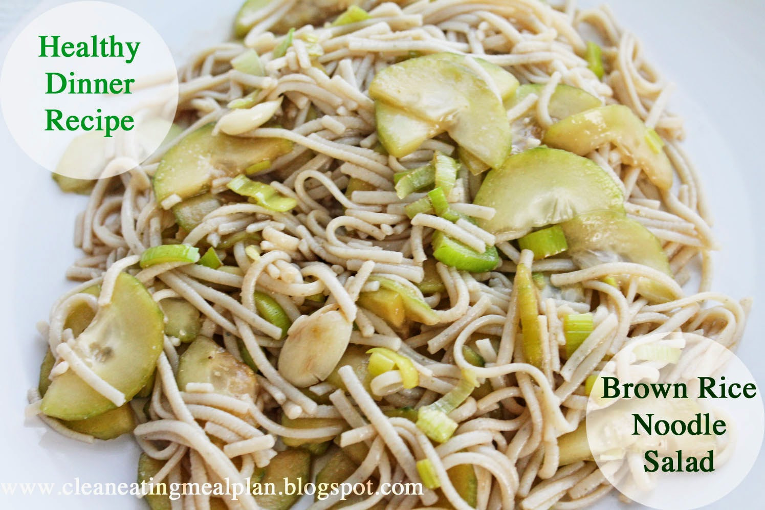 Are Rice Noodles Healthy  Healthy Dinner Recipe Brown Rice Noodle Salad