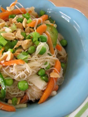 Are Rice Noodles Healthy  Spicy Orange Rice Noodle Salad Petit Foo