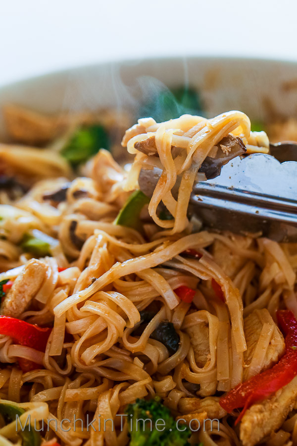 Are Rice Noodles Healthy  30 Minute Rice Noodle Chicken Stir Fry Recipe Munchkin Time