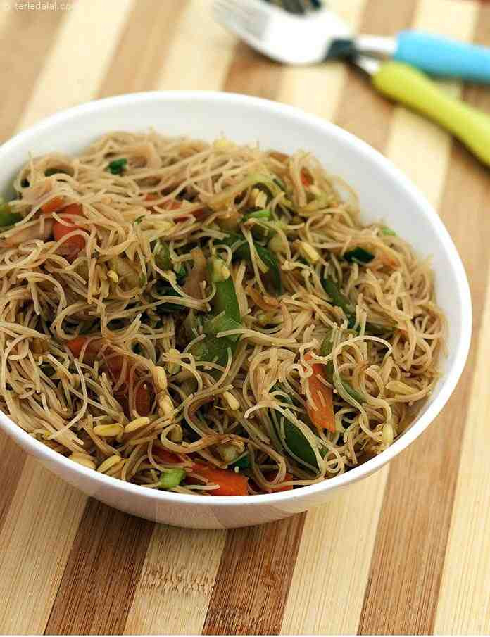 Are Rice Noodles Healthy  Hakka Rice Noodles recipe Healthy Snacks for Kids Recipes