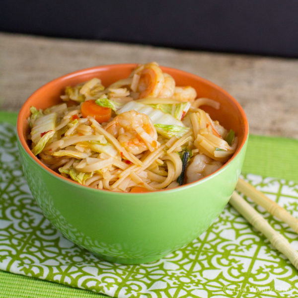 Are Rice Noodles Healthy  Spicy Rice Noodle Recipe with Shrimp and Cabbage