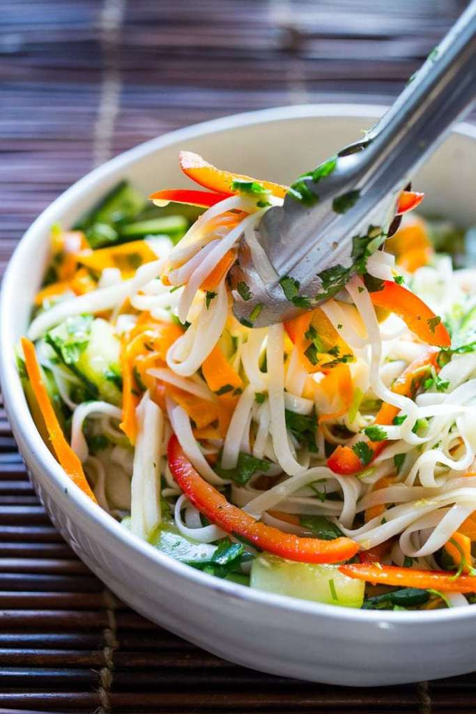 Are Rice Noodles Healthy  Vietnamese Rice Noodle Salad w Pickled Ve ables