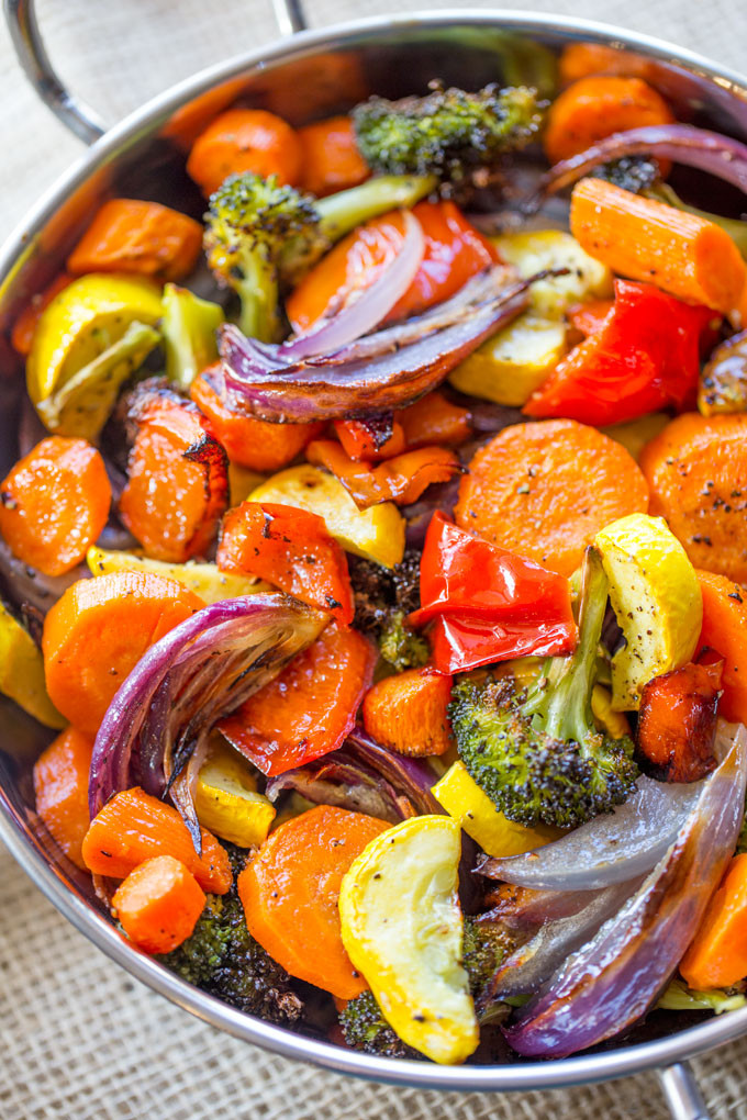 Are Roasted Vegetables Healthy  colorful healthy food