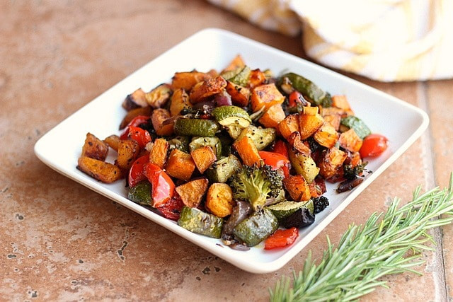 Are Roasted Vegetables Healthy  Balsamic Rosemary Roasted Ve ables Vegan Grain Free