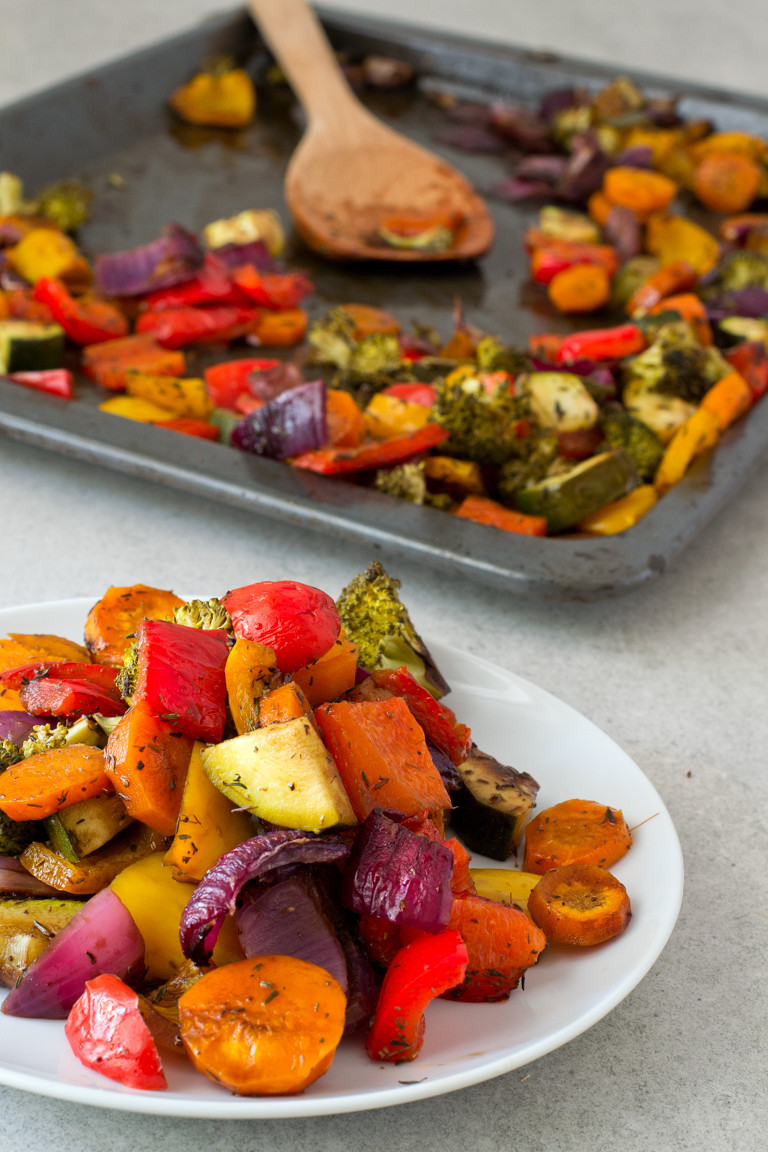Are Roasted Vegetables Healthy  Oil Free Rainbow Roasted Ve ables Simple Vegan Blog