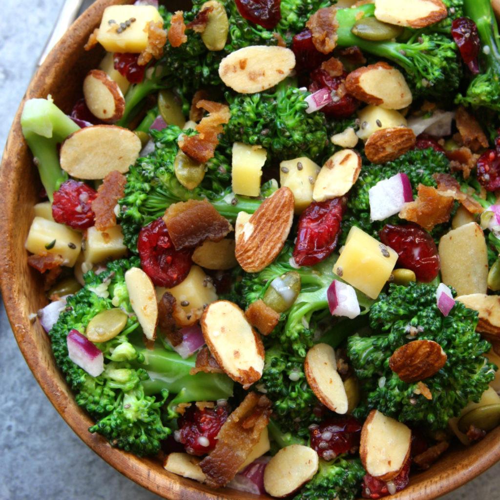 Are Salads Healthy  Super Healthy Broccoli Salad The Fed Up Foo