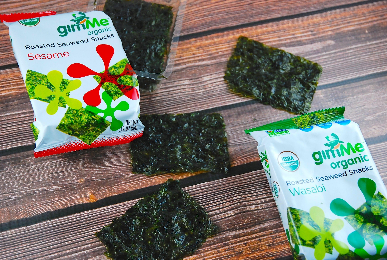 Are Seaweed Snacks Healthy  gimMe Organic Roasted Seaweed Snacks 1 Point LaaLoosh